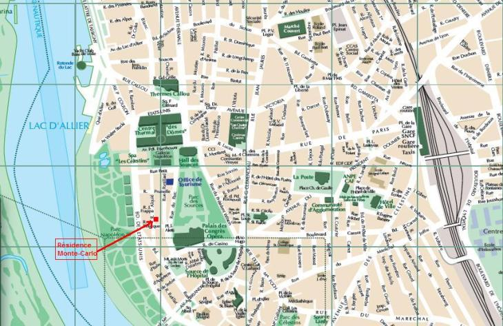 Rue Alquié sur plan Vichy